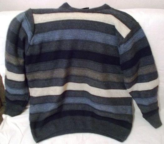 Pullover lână-bumbac