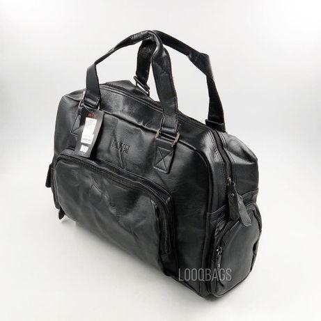 Кожаные дорожные спортивные сумки SANSI (8216)