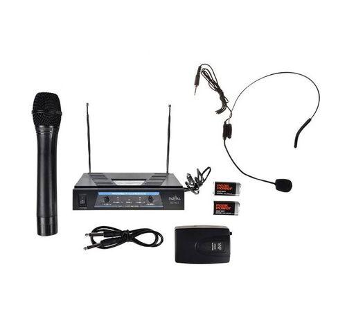 Професионална система с 1 безжичен микрофон, 1 микрофон брошка