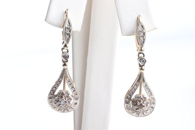 Серьги с бриллиантами , золото 585 Россия, вес 6.50 г. «Ломбард Белый»