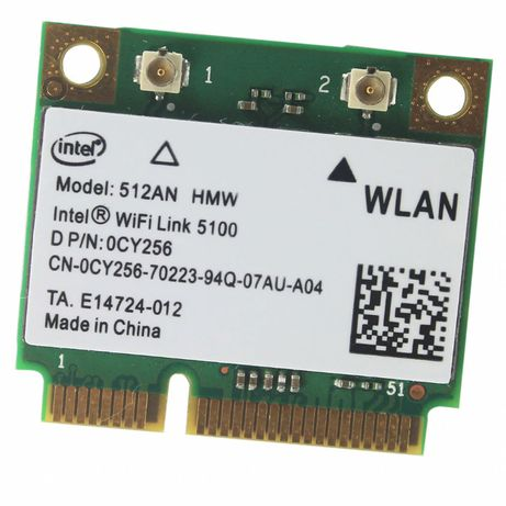 INTEL WiFi Link 5100 512AN_HMW A/G/N Dual Band WiFi WLAN Half Mini PCI