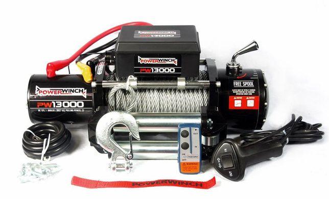 Troliu PowerWinch 13000lb (5,907 kg) pentru asistență rutieră si 4x4