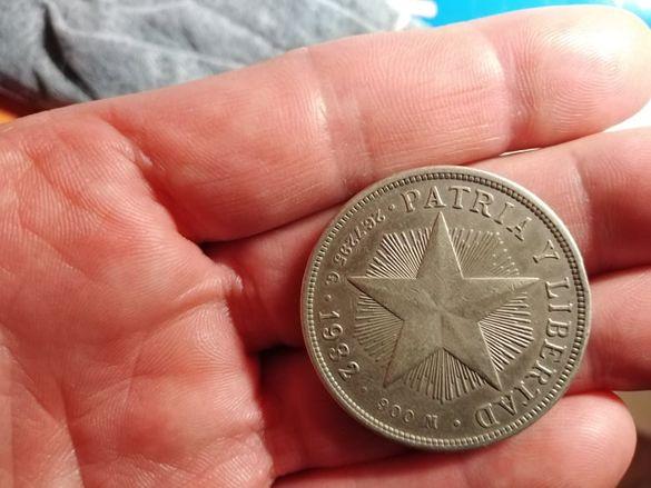 1 песо 1932 г Куба сребро