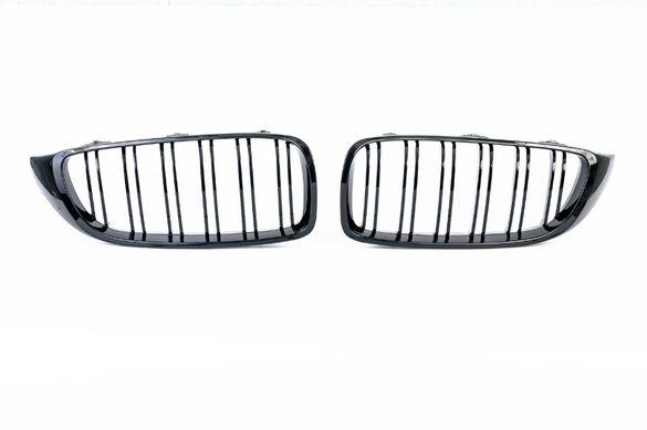 Бъбреци Решетки За БМВ BMW F32 F33 F36 Черен Гланц М4 Тип След 2013