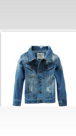 Модная детская джинсовая куртка