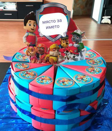 Изработка на картонени торти за рожденни дни, детски градини,празници.