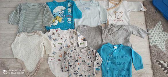 Бебешки бодита с дълъг ръкав 0-3 месеца