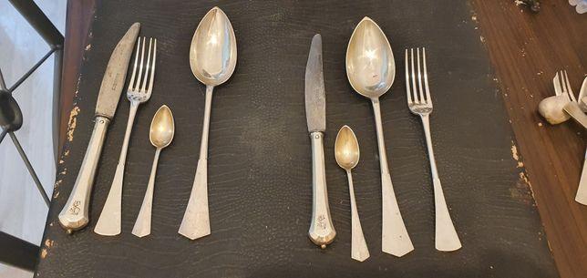Set 2 persoane din argint masiv de luat masa tacâmuri