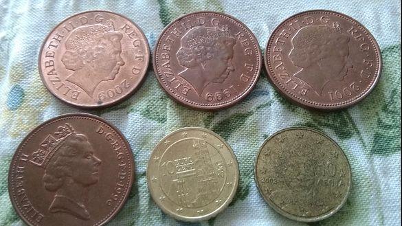 монети PENCE разли4ни