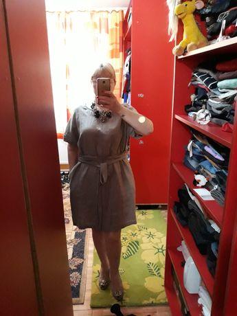 Rochie din in Nissa XL, oversized, nouă cu etichetă,