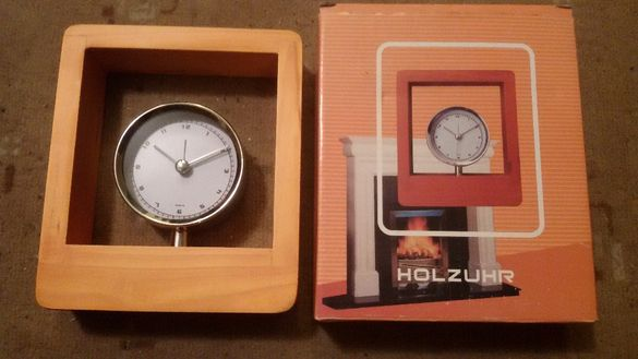 часовник антикварен луксозен дървен немски уникат
