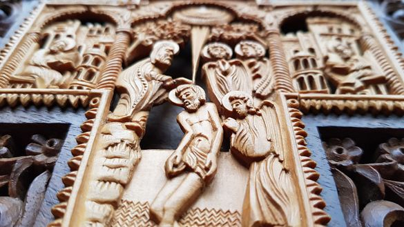 Продавам кръст икона , уникална изработка от дърворезба