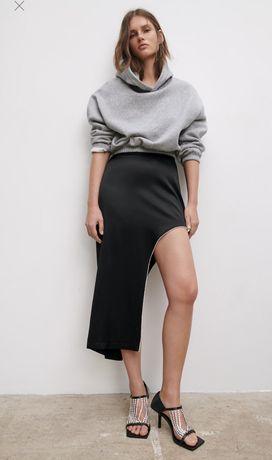 Шикарная черная юбка Zara новая с этикеткой