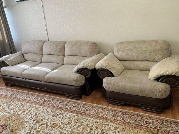 Продам диван и кресло в хорошем состоянии