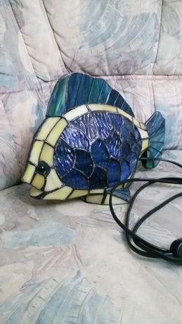 Pește lampă vitraliu Tiffany