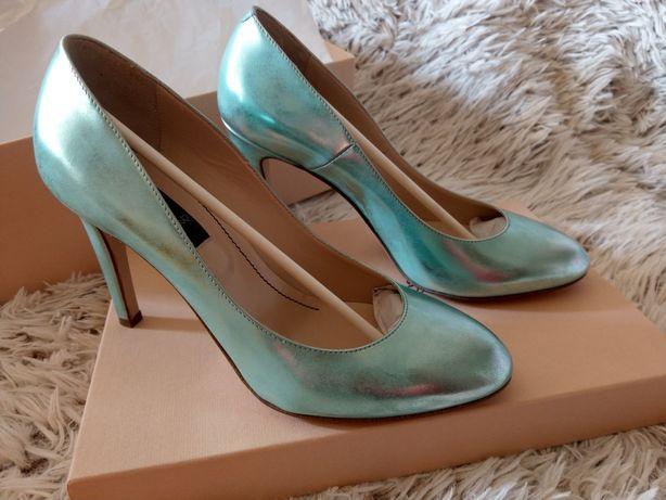 Pantofi Musette din piele model unicat