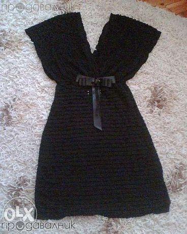 НАМАЛЕНИЕ! нова черна рокля с брошка