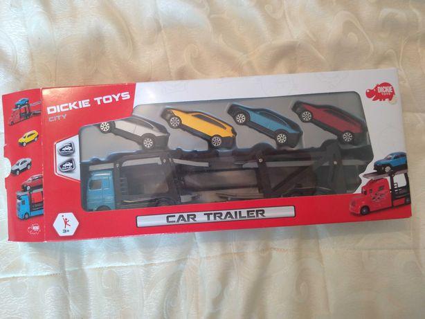 Car trailer de jucărie (set 5 mașinuțe)