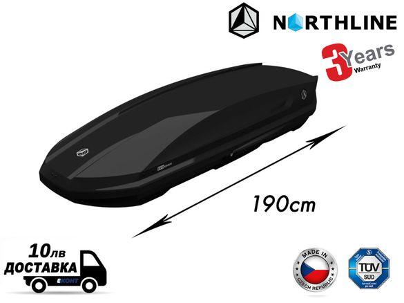 Багажник Автобокс Northline EvoSpace Dual 190х67х36-310л. Черен Гланц
