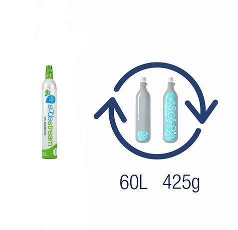 Пълнене на бутилки 425 гр. СО2 (Въглероден двуокис) за всички машини.