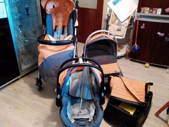 Детска количка Chicco 3 в 1 + подарък