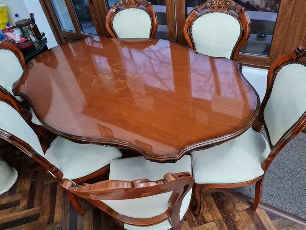 Masa cu scaune lemn masiv