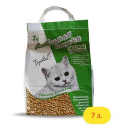 Наполнитель Любимая кошка Лесной 7л
