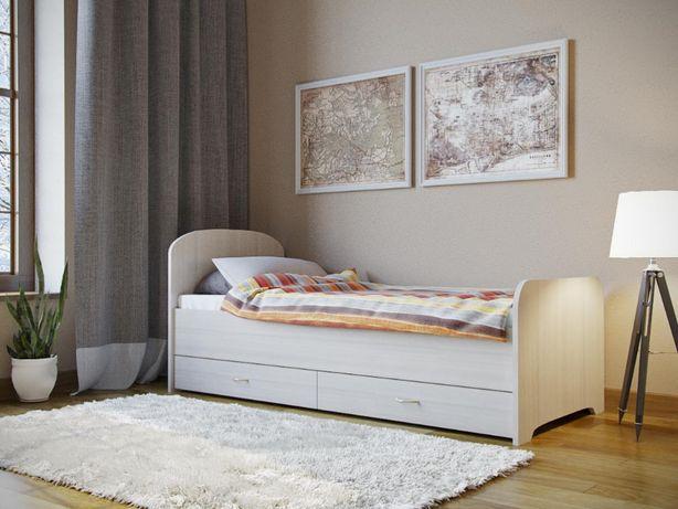 №49 Кровать односпальная с ящиками (новая)