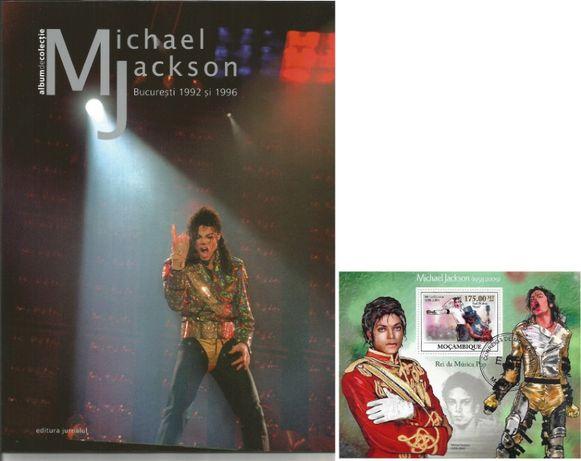 Set cadou MICHAEL JACKSON, album ilustrat si colita timbre filatelie