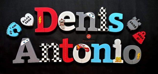 Nume decorativ Denis Antonio tematica Cars/Fulger McQueen