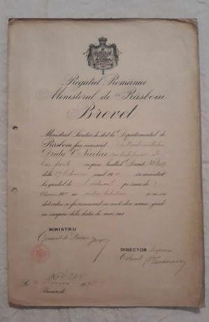 Brevet Regatul Romaniei 1912
