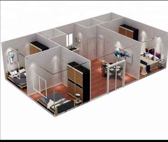 vand case modulare din structura Metallica