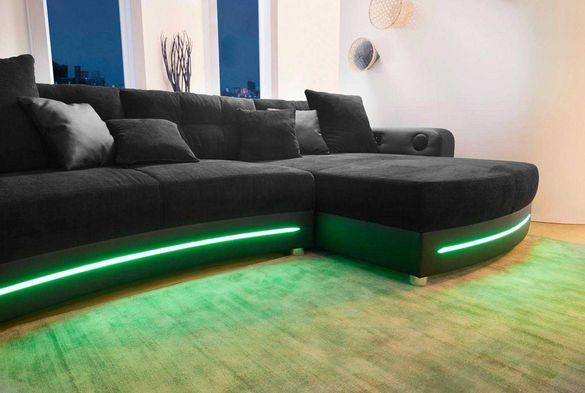 Холов ъглов диван, RGB-LED осветление, Bluetooth, внос Германия, Варна
