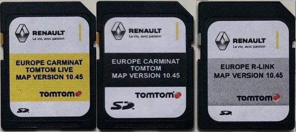 Renault Carminat TOM TOM live R-Link Sd Card TomTom Сд Карта 2021 год