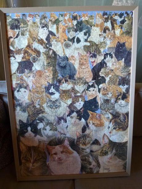Tablou puzzle pisici