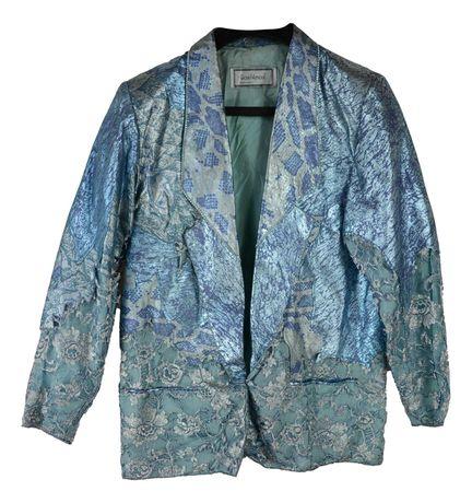 Sacou Dama Gianni Versace marimea L-XL Albastru Elegant AJ78