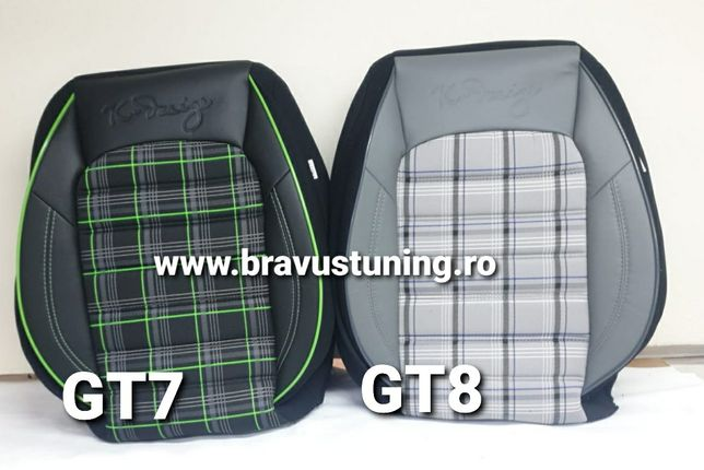Huse scaun auto GT Golf 4,5,6,7, Passat,Skoda,Duster,Opel,Mercedes etc