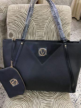 Голяма кожена чанта, чисто нова.