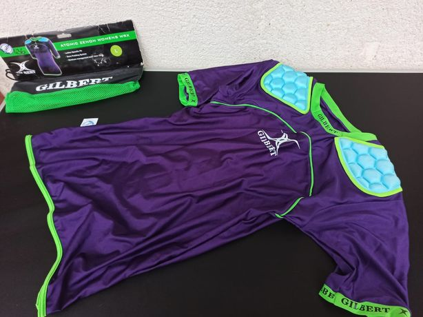 Top tricou bluză fitness sport rugby Gilbert damă women femei protecți