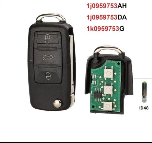 Ключ с чип и АМПУЛА за VW, Scoda, Seat, безплатна доставка+ подарък