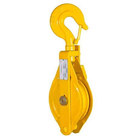Блок-макара 3,0 тона с кука, за въже ø19,0 мм, 1 ролка и други тонажи