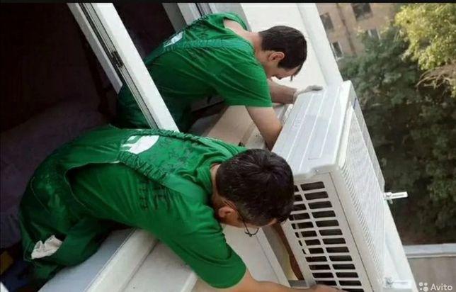 Установка ремонт заправка  кондиционеров