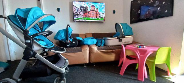 Cărucior 3 în 1 sport+landou+scaun auto.Germania.Livrare cu verificare