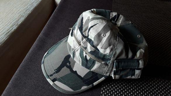 Камуфлажна,военна шапка памук