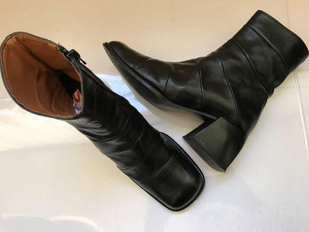 Ghete negre dama cizme scurte piele naturala botine femei fermoar