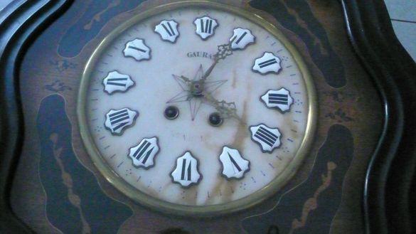 УНИКАЛЕН, ОНИКС супер рядък, голям салонен стенен Фр. часовник 1913