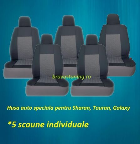 Huse scaun auto dedicate SHARAN, TOURAN, GALAXY 5 locuri