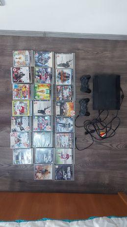 Consola PS3 + două joystick + 23 jocuri