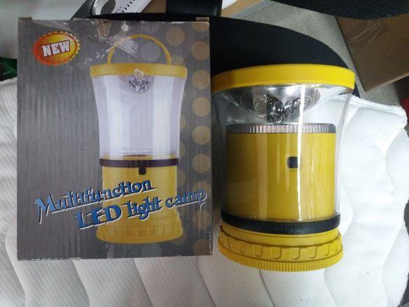 Мултифункционална лед лампа 2 в 1 за къмпинг чисто нова!!!