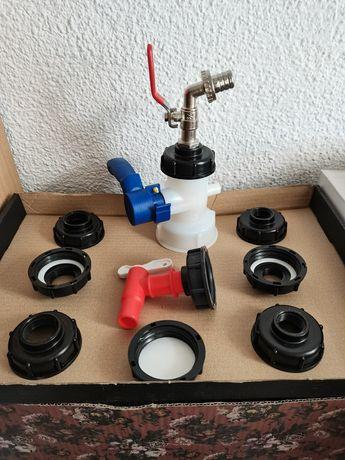 Adaptor reducție robinet la bazin ibc, cub de 1000 litri